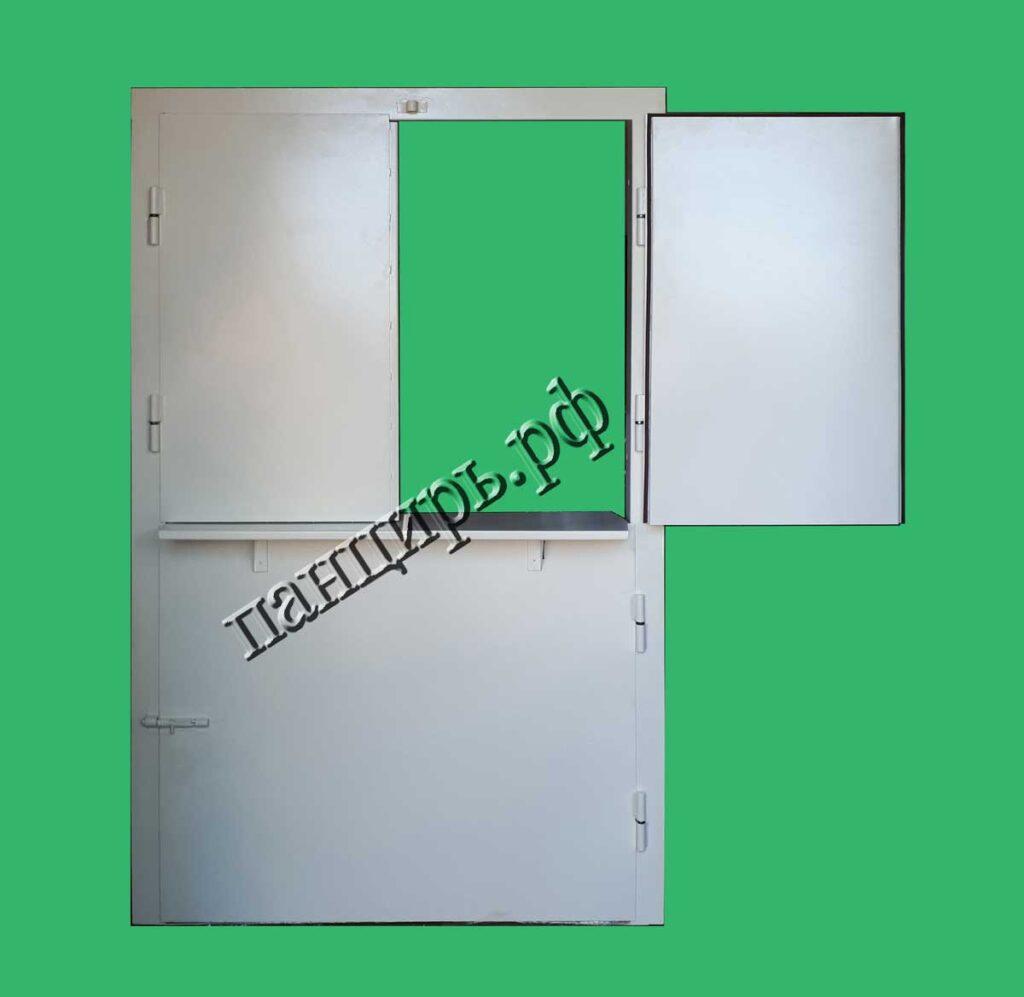 дверь с окном в столовую или гардероб