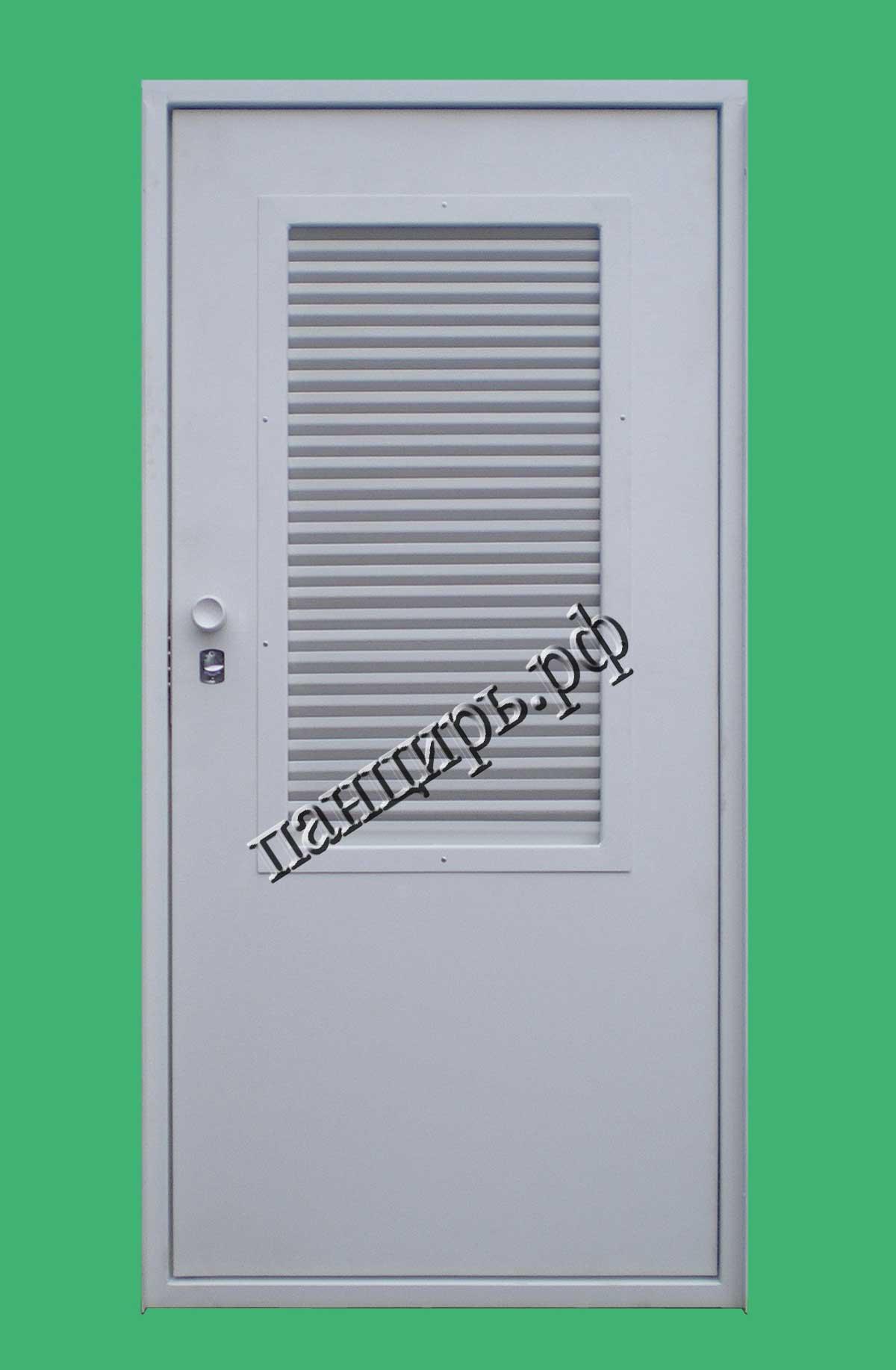 Металлическая дверь для промышленной котельной