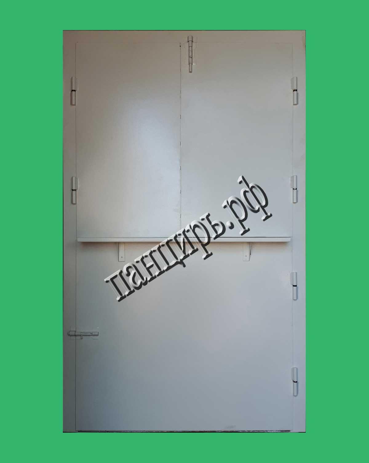 дверь с окном выдачи