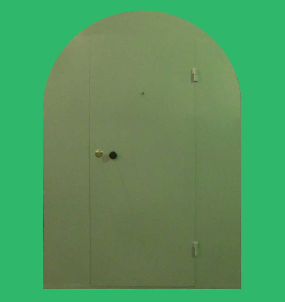 техническая дверь с боковыми глухими створками