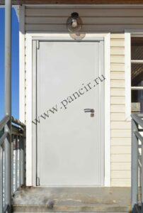 металлическая оцинкованная дверь