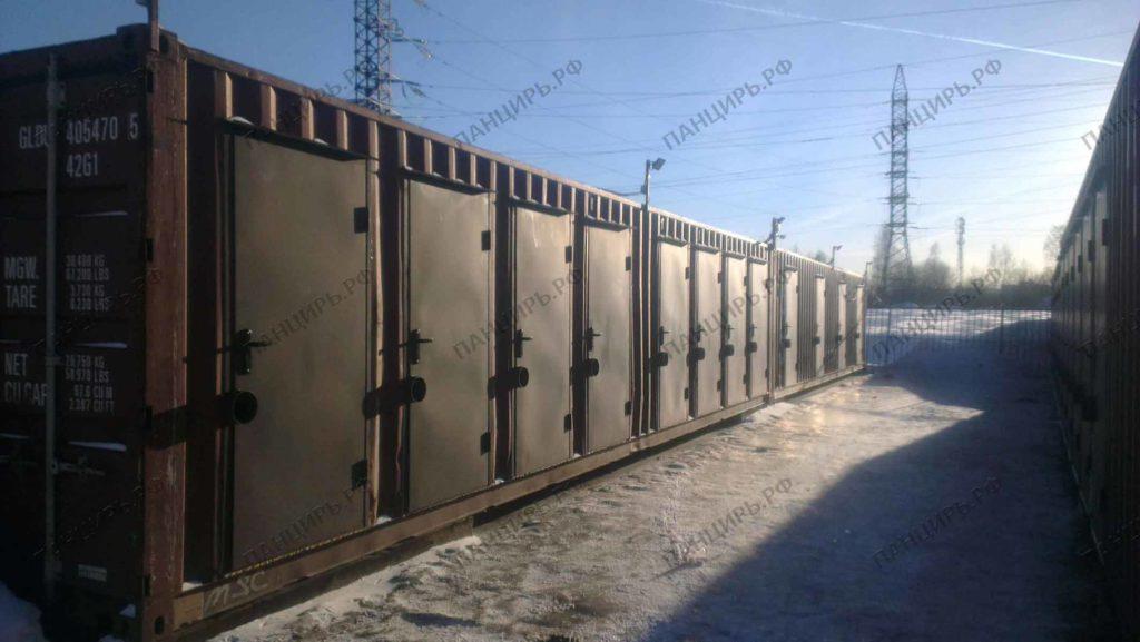 двери в контейнер