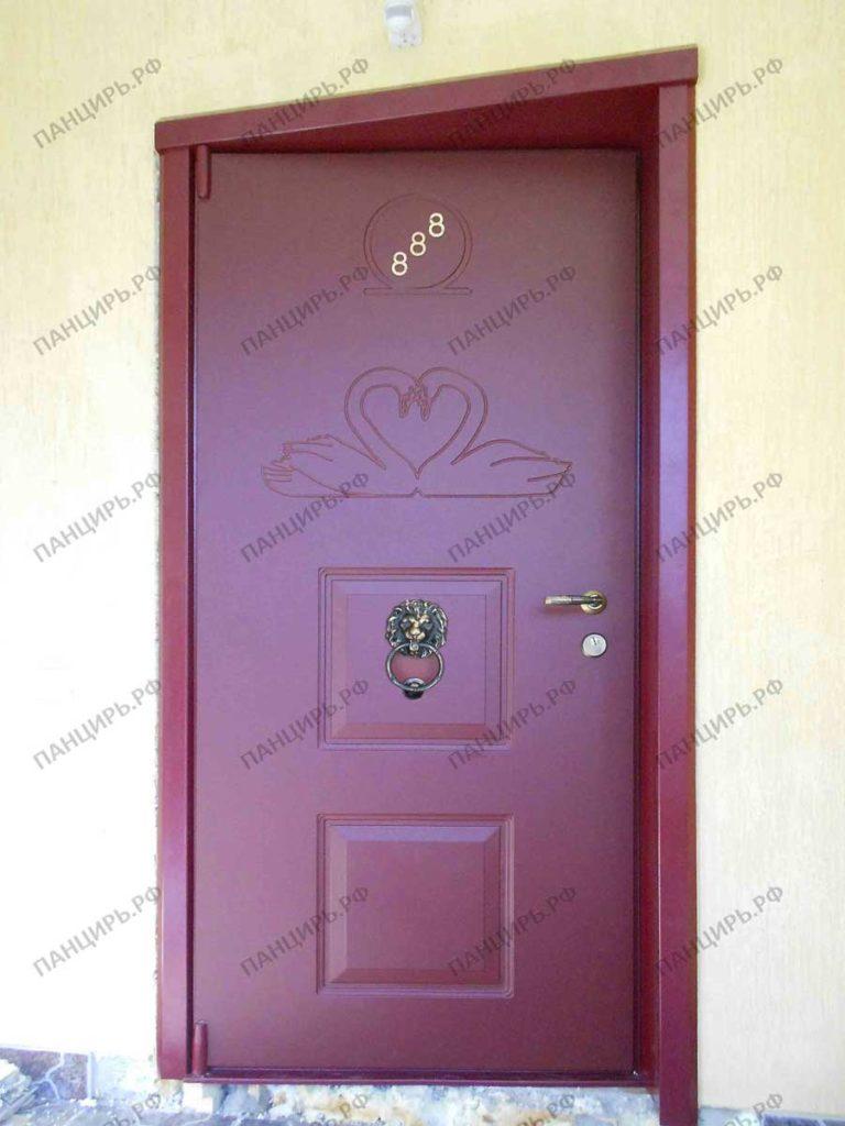 дизайнерская металлическая дверь