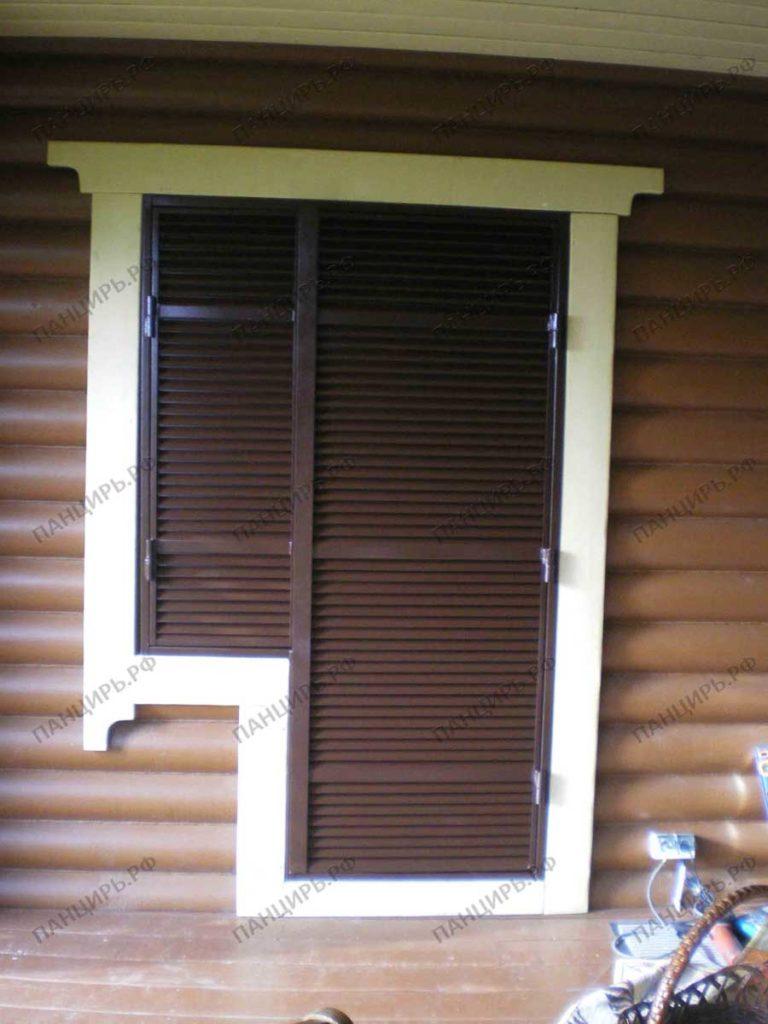 жалюзийная ставня на балконную дверь