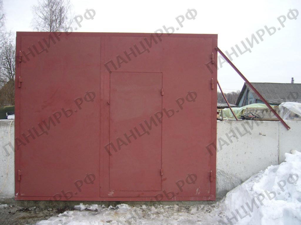 ворота в строящийся гараж