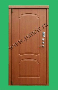 Входная металлическая дверь с внутренней панелью МДФ цвет вишня