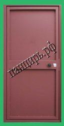 Однолистовая металлическая дешевая дверь для дачи