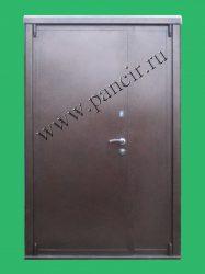 двухстворчатая металлическая дверь