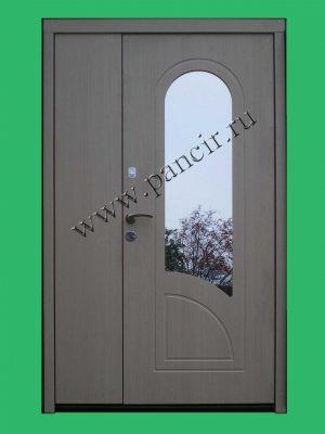 входная двухстворчатая металлическая дверь ПАНЦИРЬ