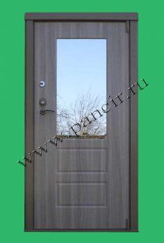 Внутренняя металлическая дверь с зеркалом